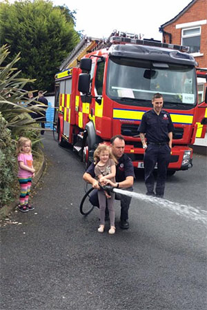 Visit from the Fire Fighters