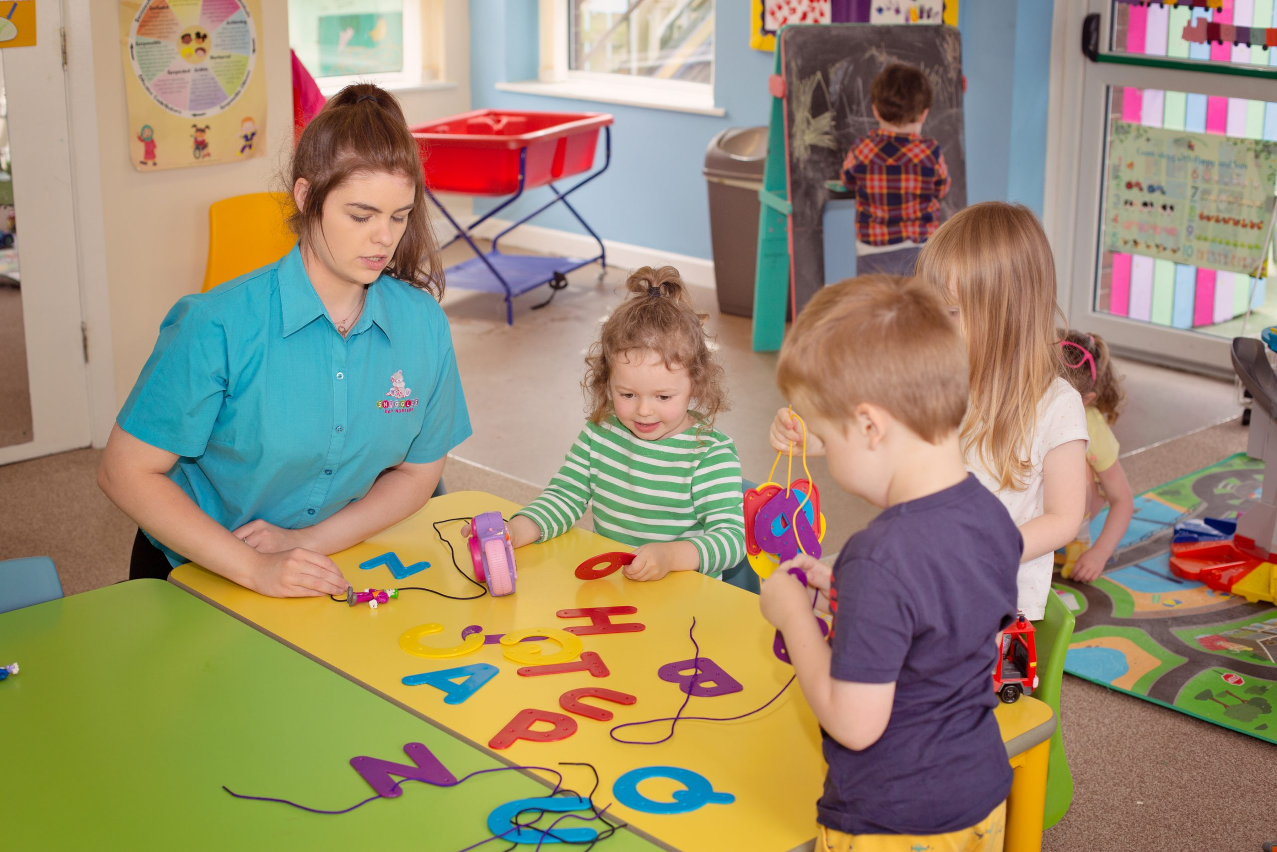 Learning Phonics at Snuggles Day Nursery